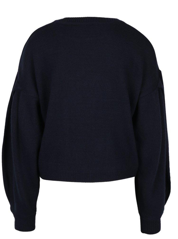 Tmavě modrý svetr Miss Selfridge