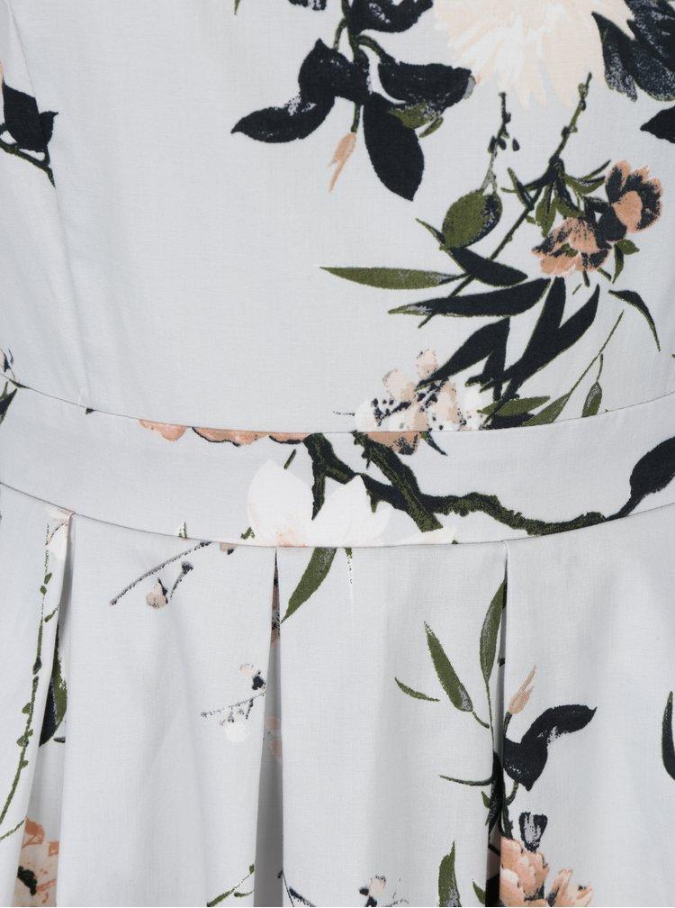 Světle šedé květované šaty Dorothy Perkins