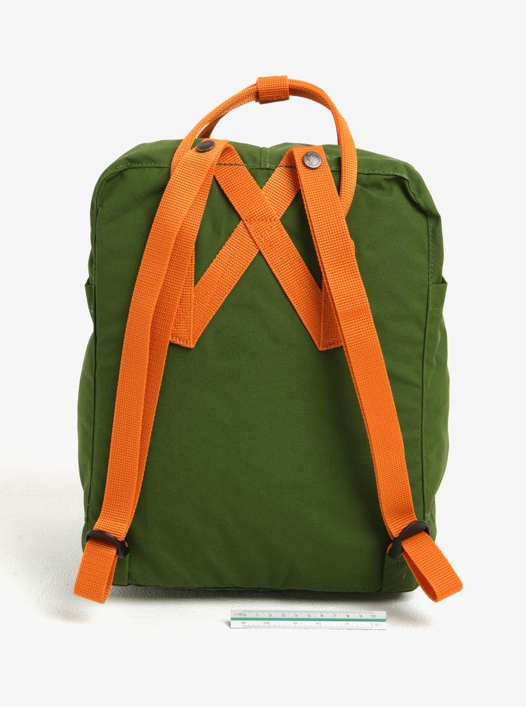 Oranžovo-zelený voděodolný batoh Fjällräven Kånken 16 l