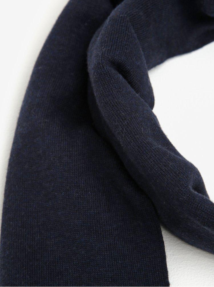 Tmavě modrá pánská hedvábná šála Tommy Hilfiger