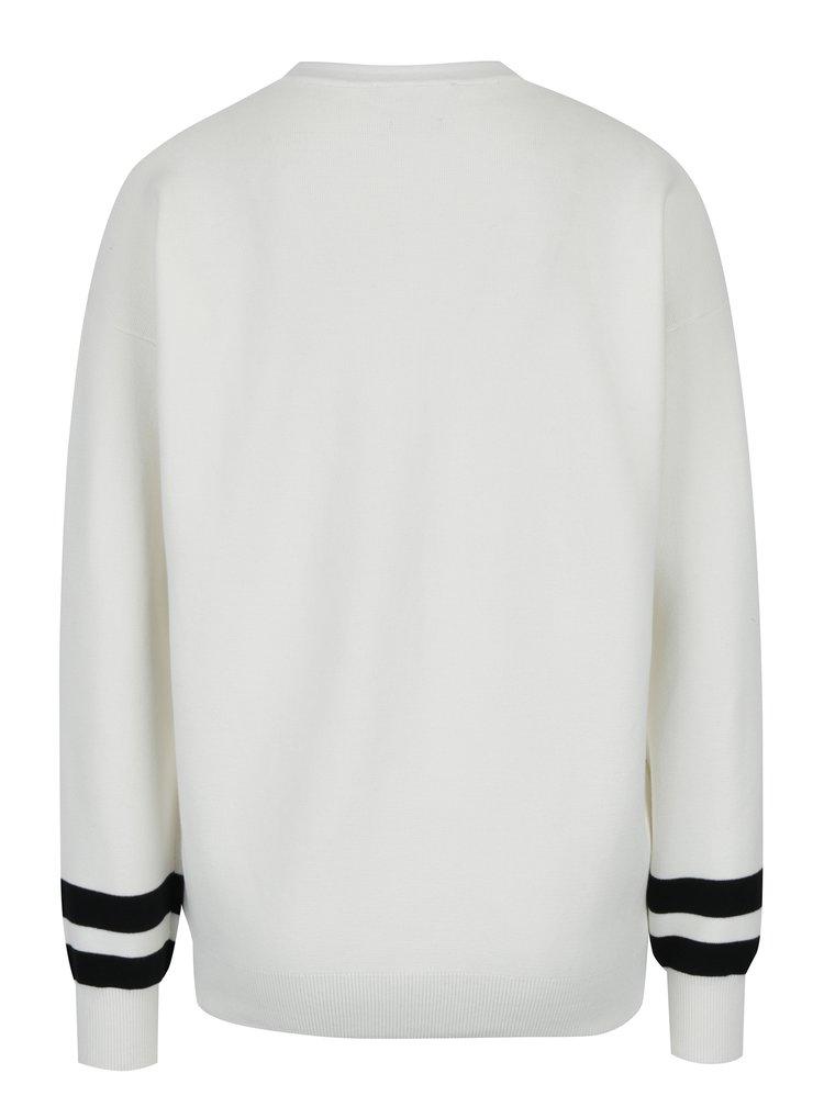 Krémový dámský svetr s výšivkou Tommy Hilfiger