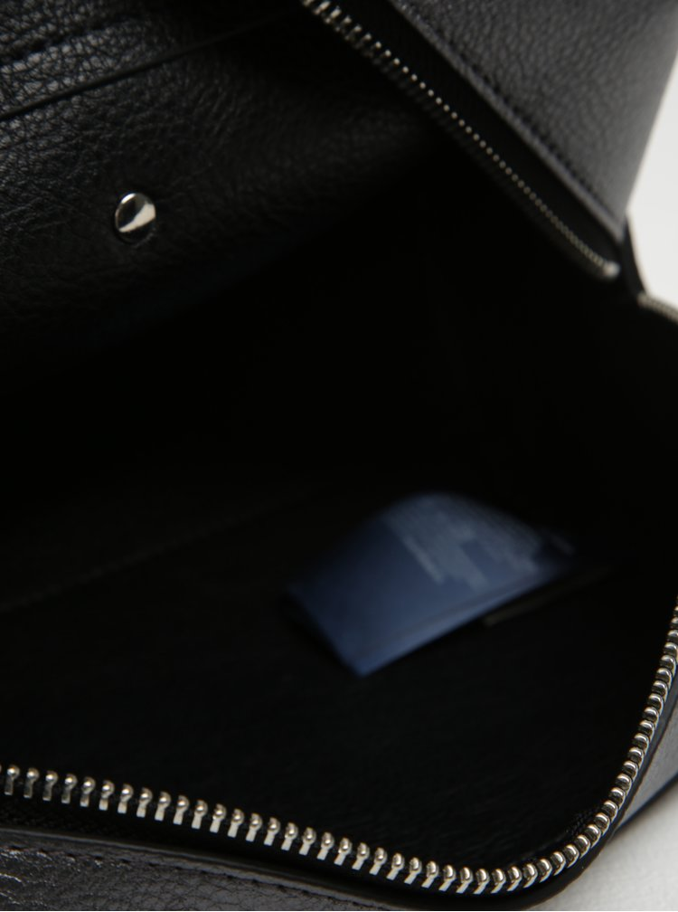 Tmavě šedá metalická dámská kosmetická taštička Tommy Hilfiger