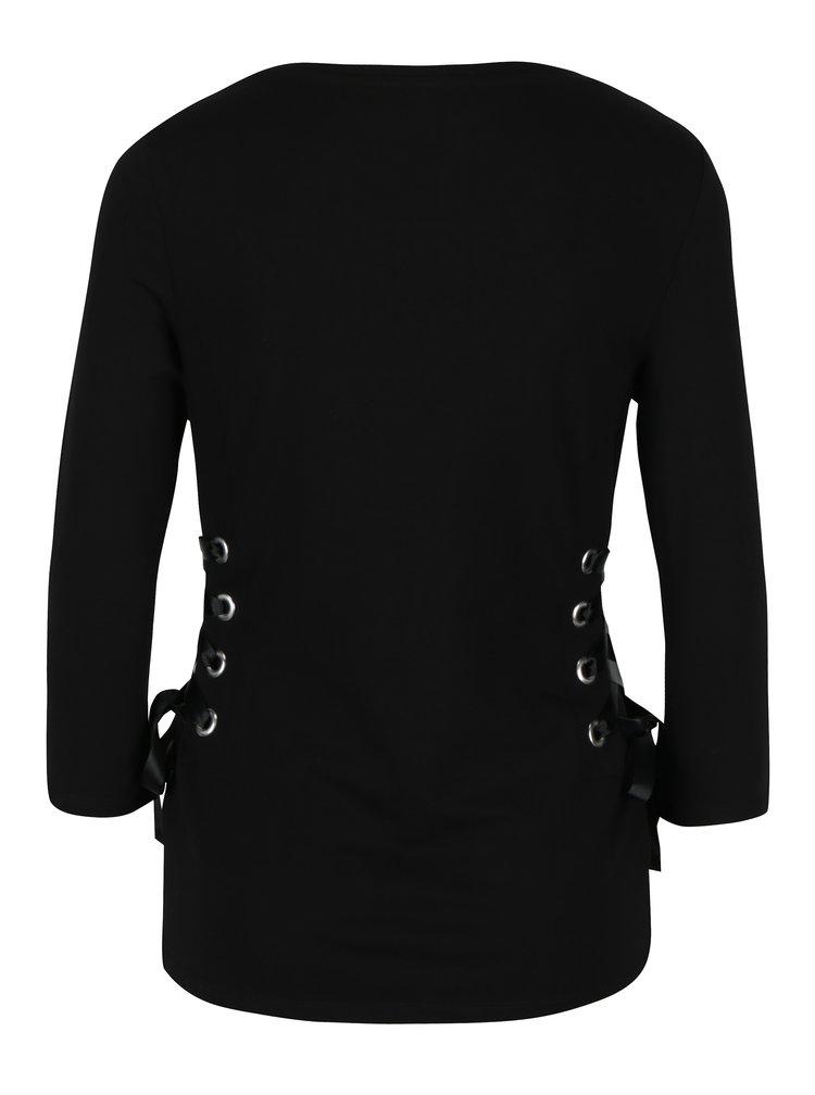Bluza neagra cu snururi pe laterale Dorothy Perkins