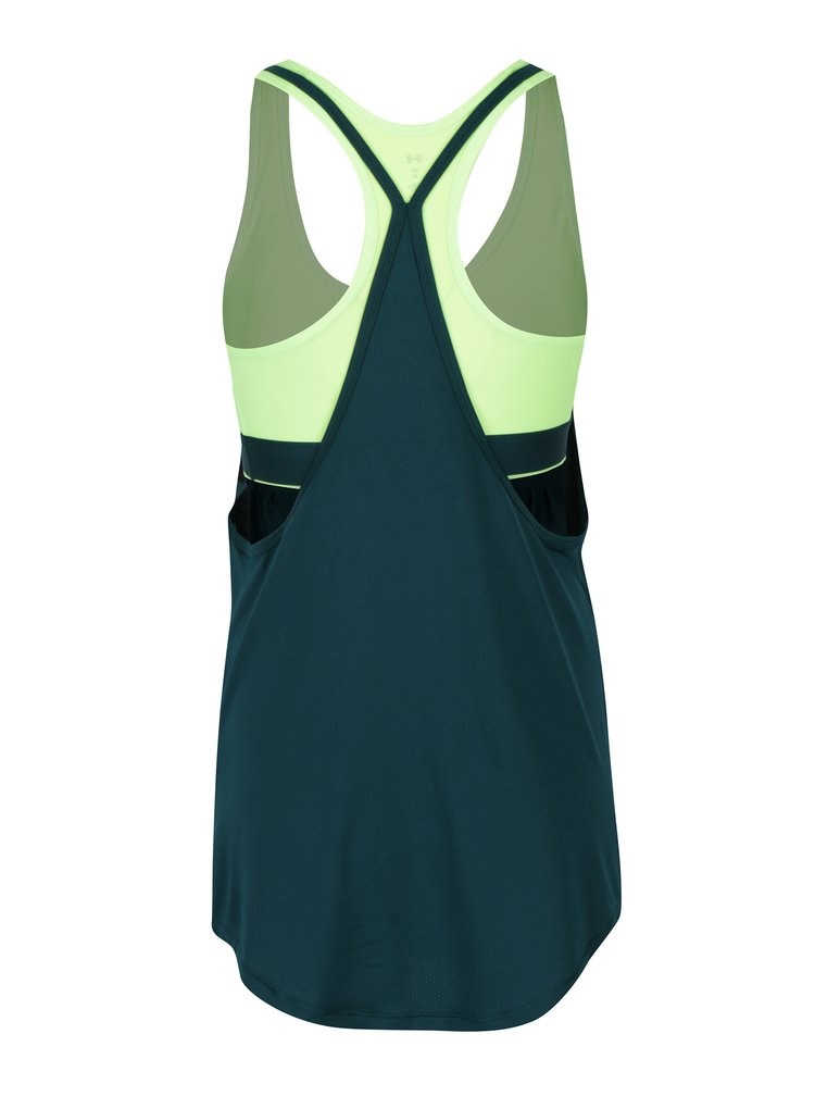 Maiou sport verde cu bustier 2 in 1  Under Armour