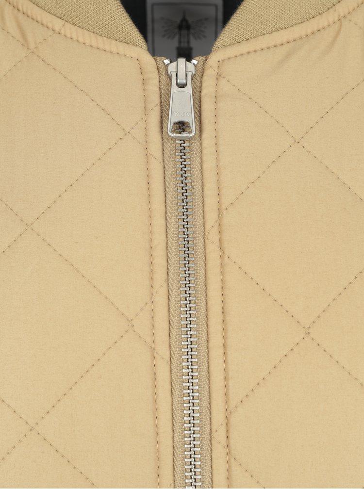 Béžová pánská prošívaná bunda Makia Quilted