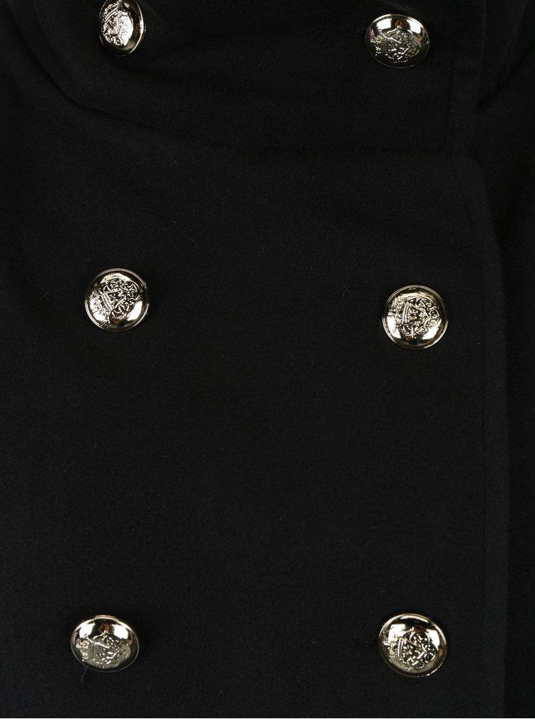 Černý kabát s knoflíky ve zlaté barvě ZOOT