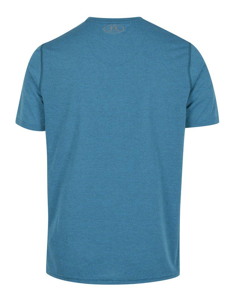 Tricou functional albastru cu tehnologie HeatGear - Under Armour Threadborne Fitted