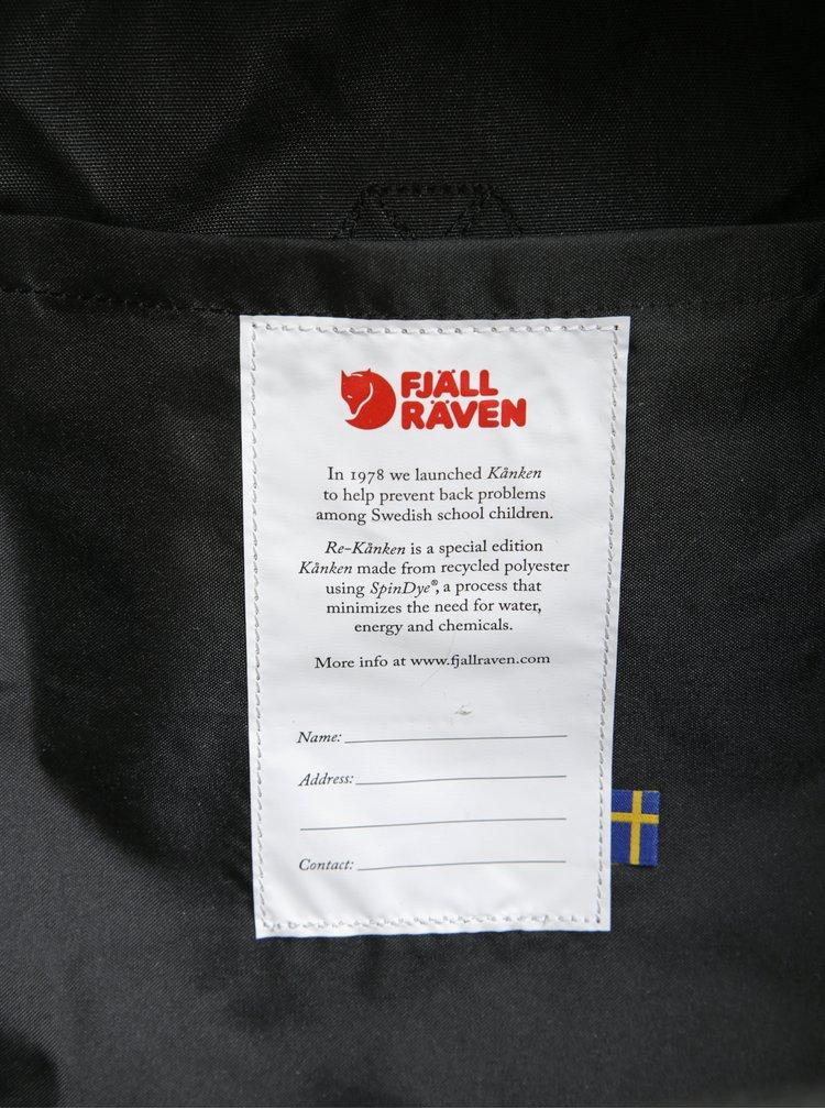 Rucsac negru realizat din material reciclat Fjällräven Re-Kånken 16 l