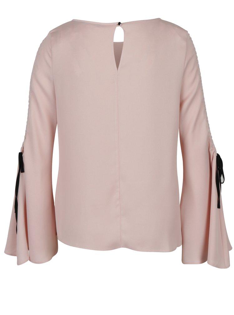 Světle růžová halenka s průstřihy na ramenou Dorothy Perkins