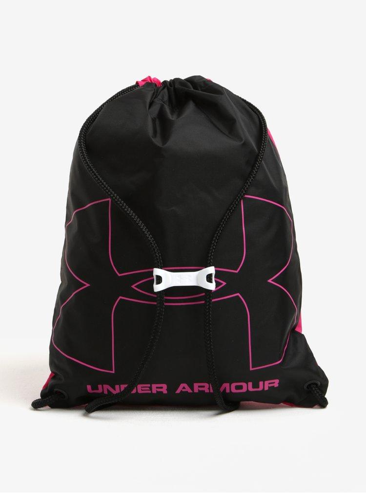 Růžový dámský vak spotiskem Under Armour UA Ozsee 16 l