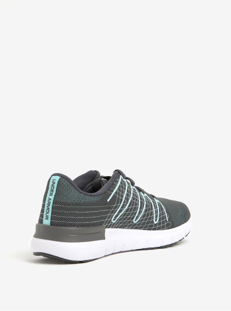 Pantofi sport gri de alergat pentru femei Under Armour UA W Thrill 3