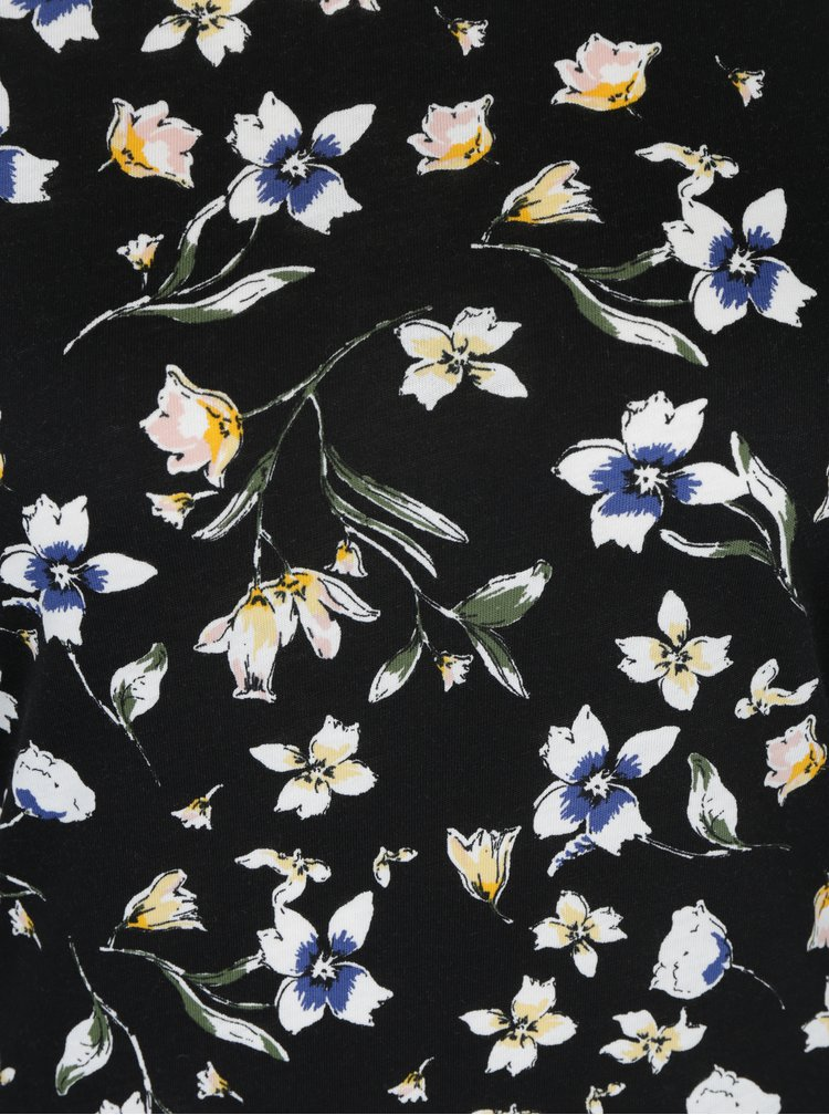 Černá květovaná halenka Dorothy Perkins