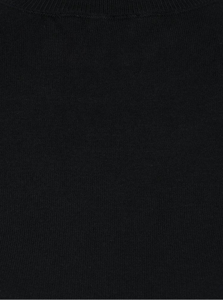 Černý svetr s průstřihy na ramenou Dorothy Perkins