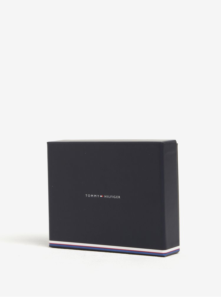 Čierna dámska kožená peňaženka s logom Tommy Hilfiger