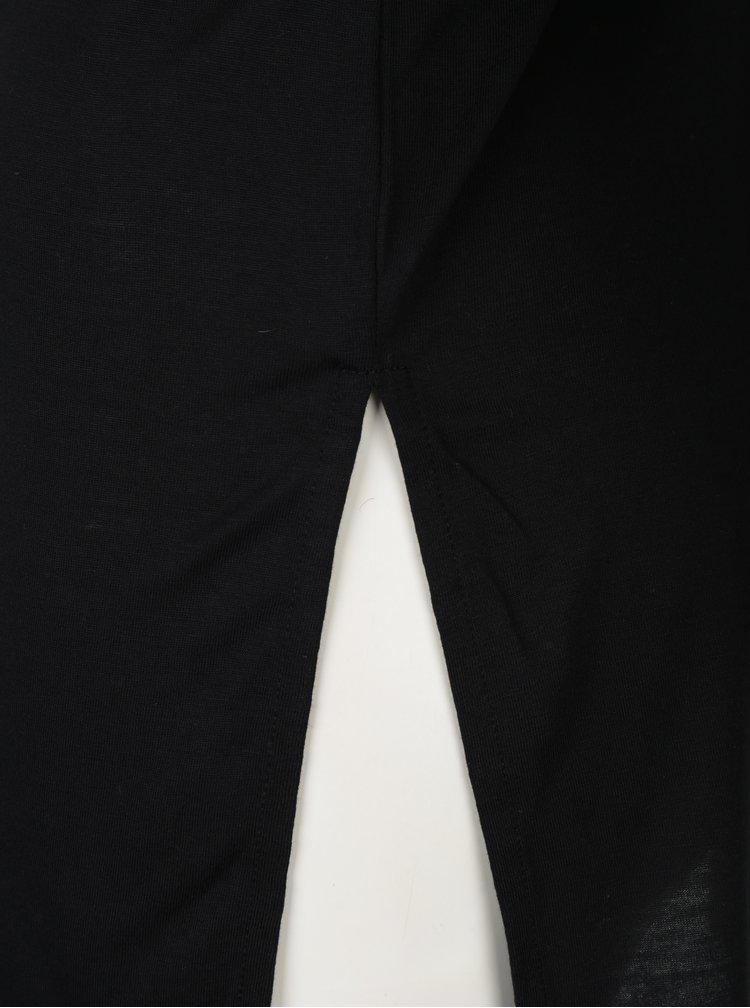 Bluza neagra cu choker si decolteu in V - Miss Selfridge