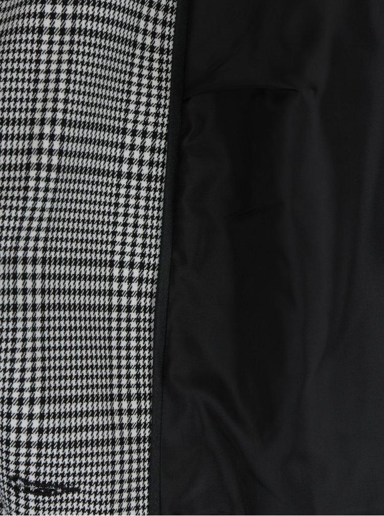 Krémovo-čierne vzorované sako Miss Selfridge Petites