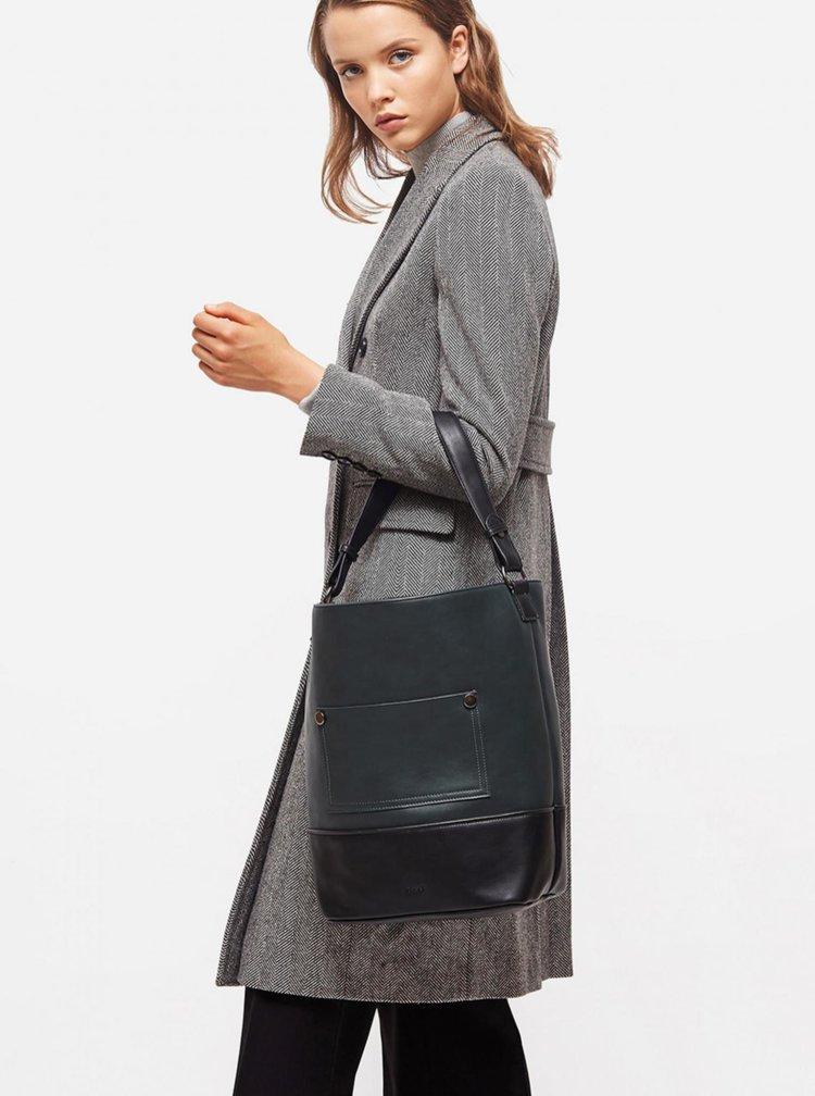 Černo-zelená velká kabelka Nalí