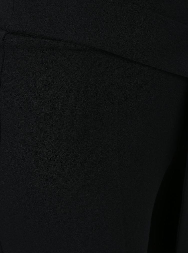 Černé volné kalhoty s mašlí a vysokým pasem Miss Selfridge Petites