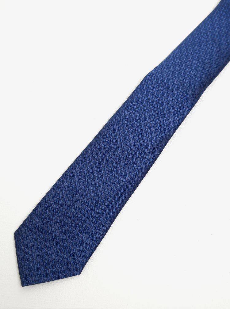 Cravata albastra cu ac argintiu - Burton Menswear London
