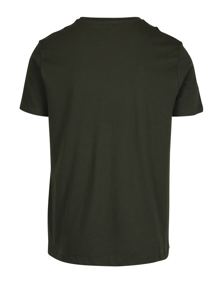 Tricou regular fit basic verde inchis  - Burton Menswear London
