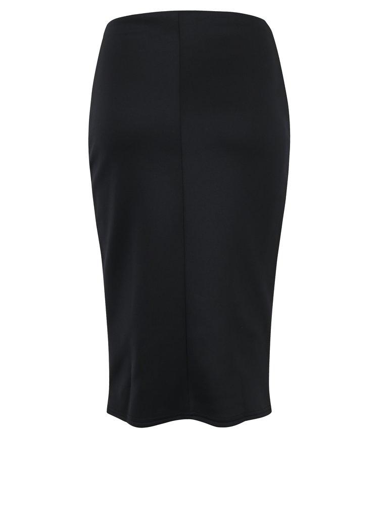 Černá pouzdrová sukně s uzlem Dorothy Perkins