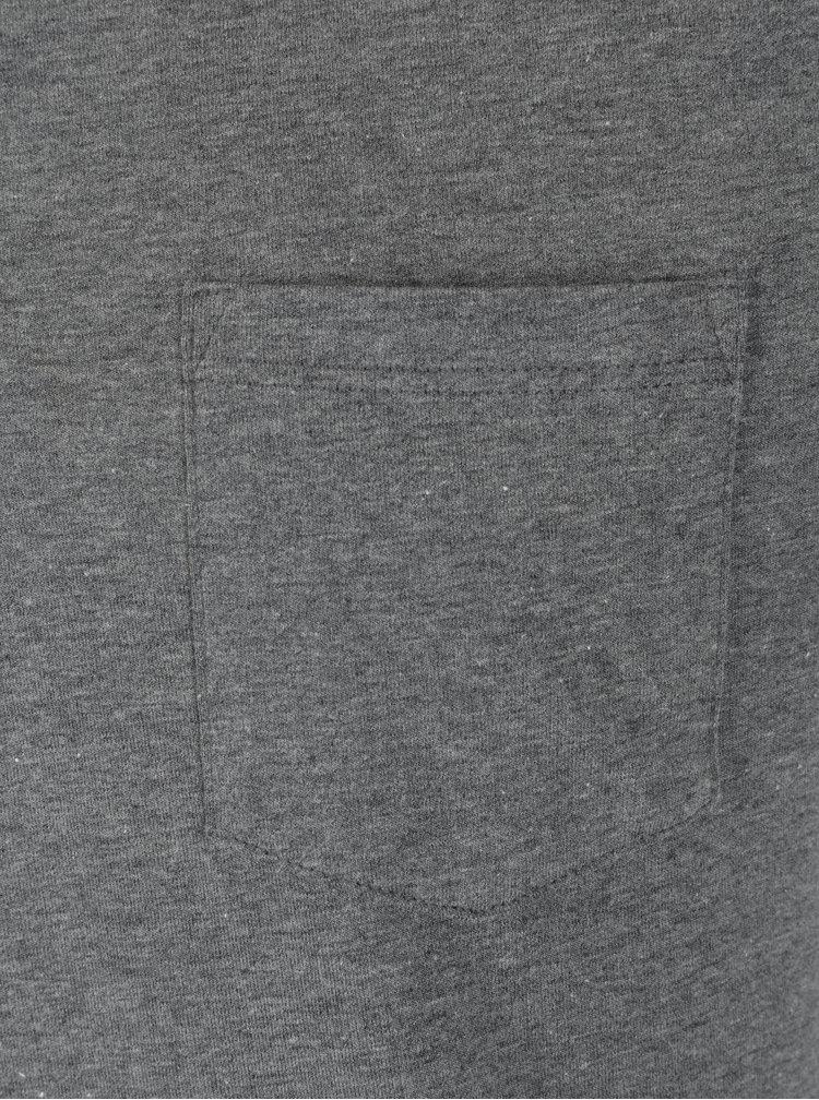 Tricou polo gri melanj cu buzunar pentru barbati - Burton Menswear London