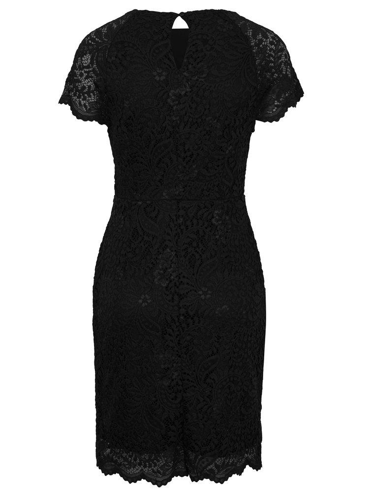 Černé krajkové šaty s krátkým rukávem ONLY Shira