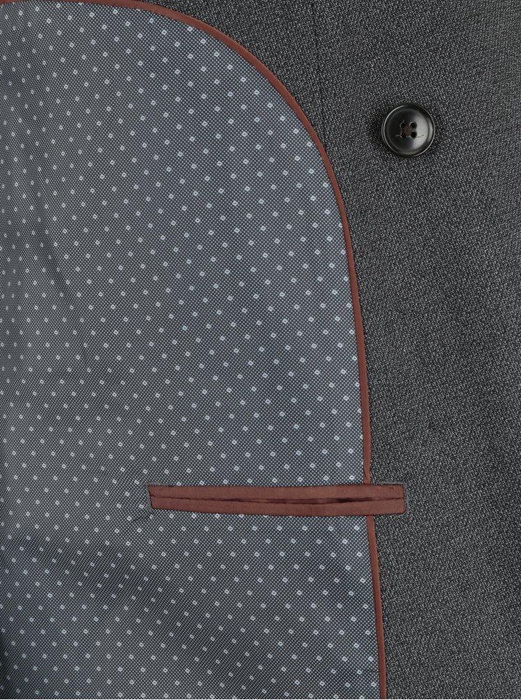 Šedé žíhané oblekové slim fit sako Burton Menswear London