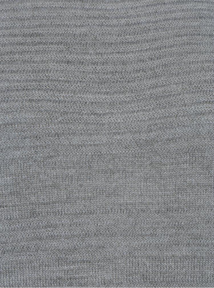 Šedý lehký svetr s rozparkem na boku ONLY Caviar