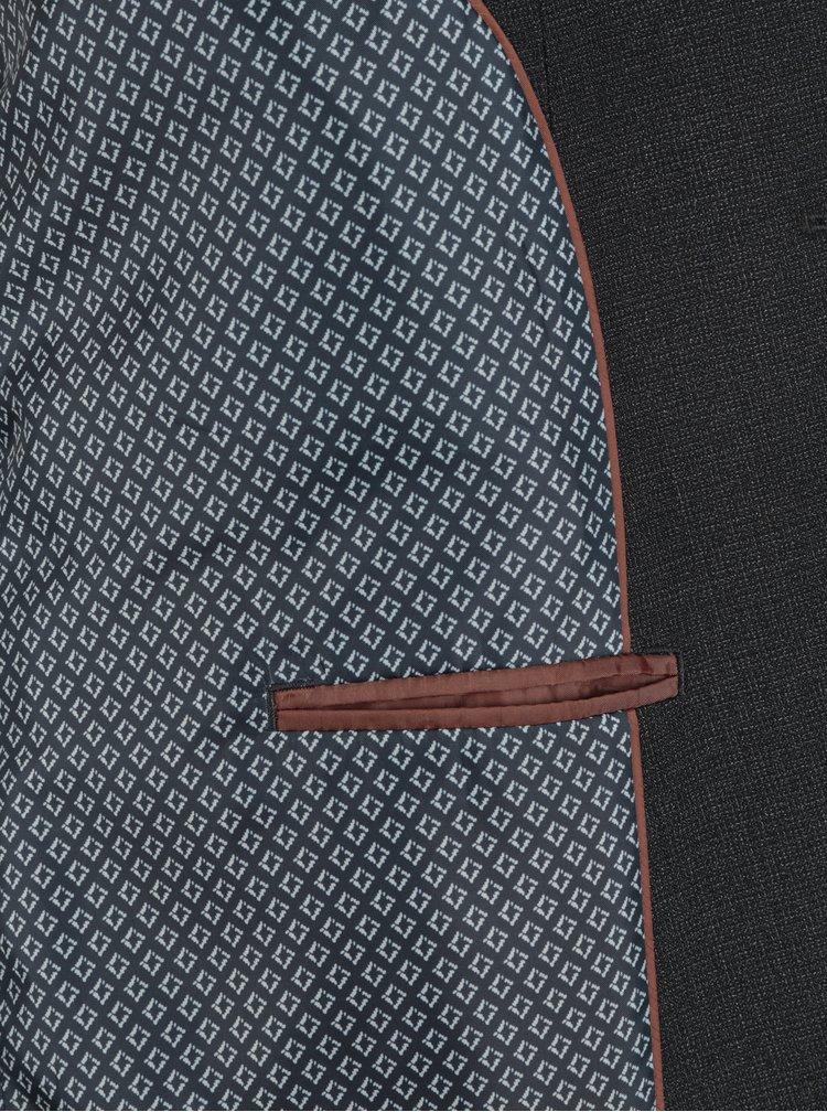 Tmavě šedé oblekové sako Burton Menswear London