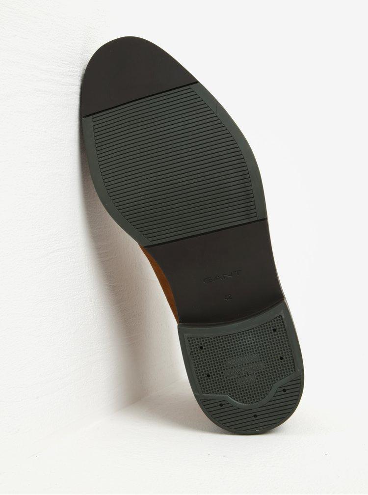 Hnědé pánské semišové kotníkové boty GANT Walter