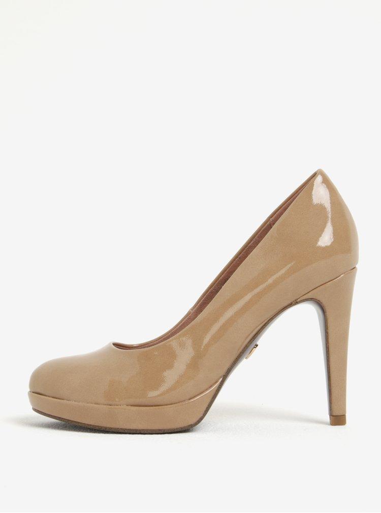 Pantofi stiletto bej cu platforma  -Tamaris