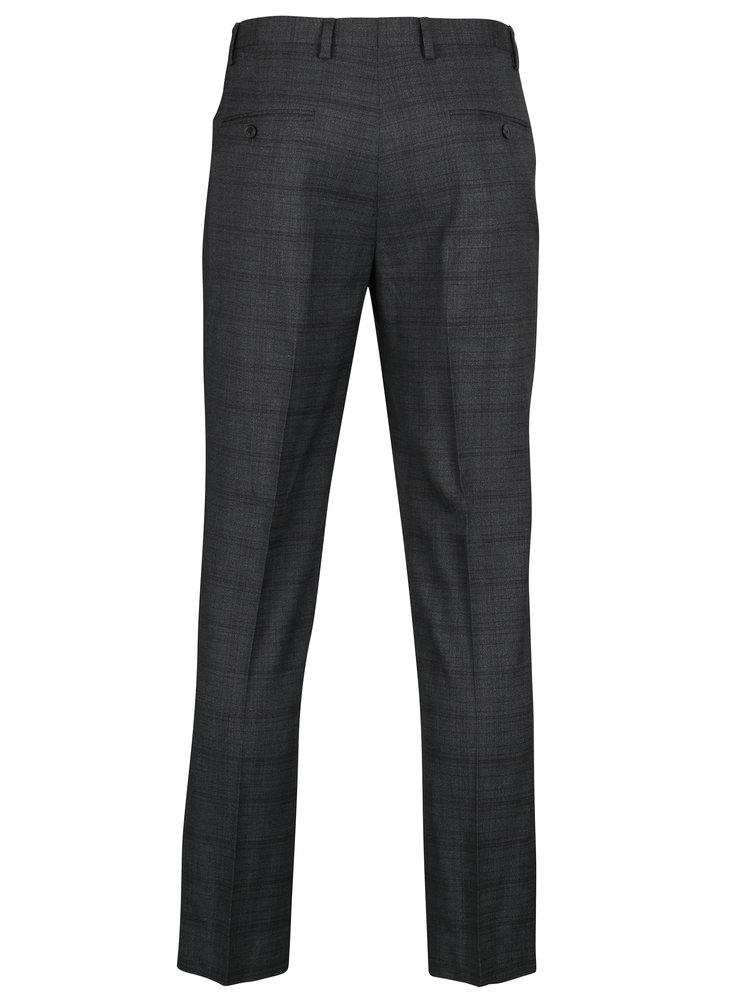 Šedé kostkované oblekové skinny kalhoty Burton Menswear London