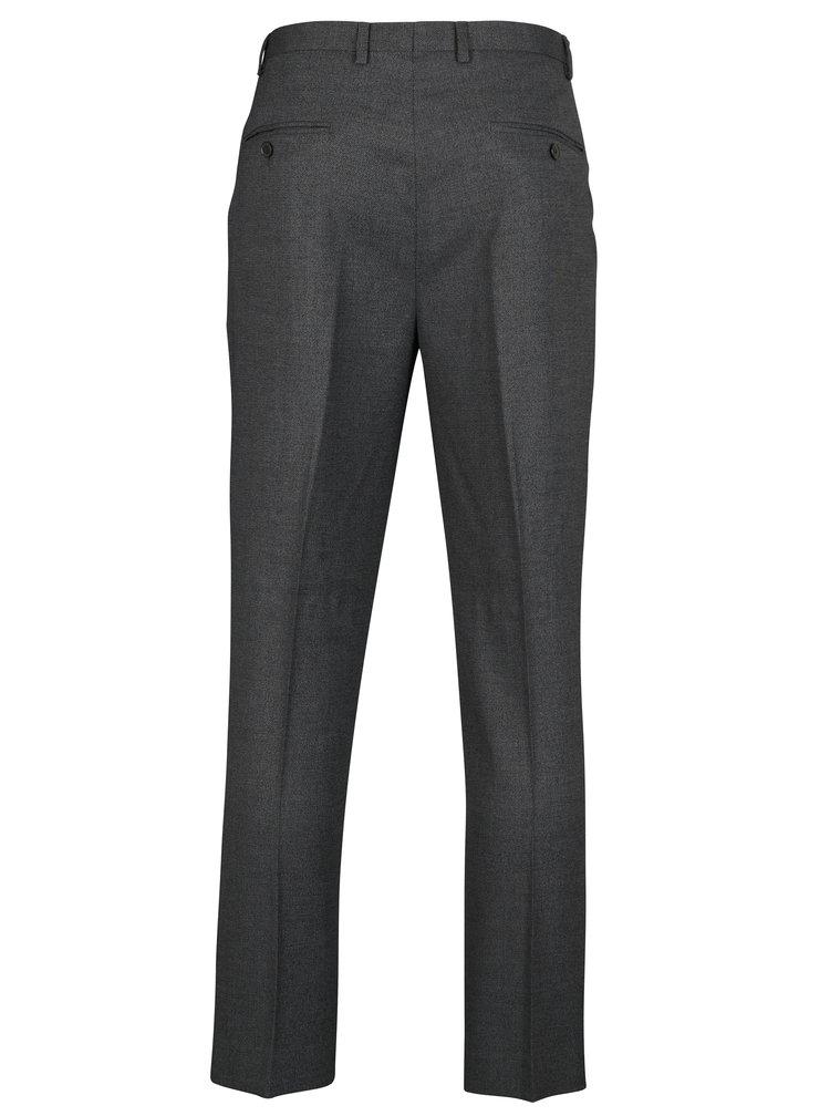 Šedé žíhané oblekové slim fit kalhoty Burton Menswear London