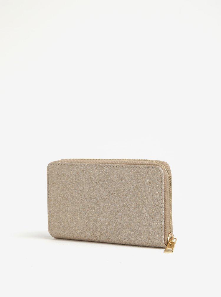 Béžová třpytivá peněženka Haily´s Glitty