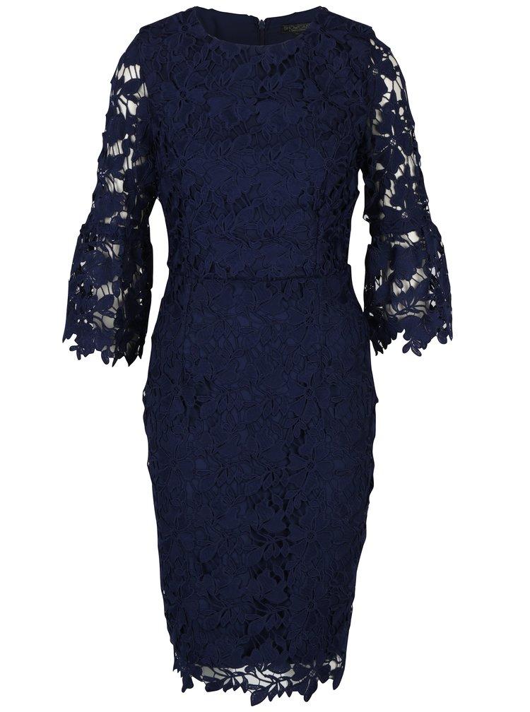 Tmavě modré pouzdrové krajkové šaty Dorothy Perkins