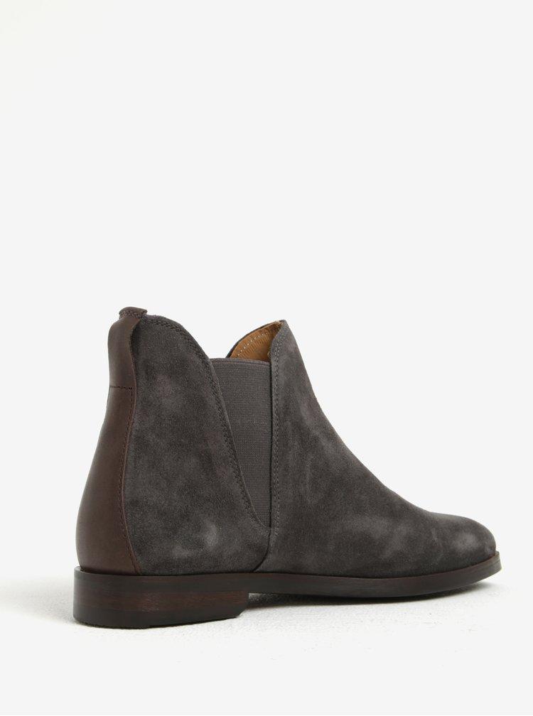 Šedé dámské semišové chelsea boty GANT Nicole