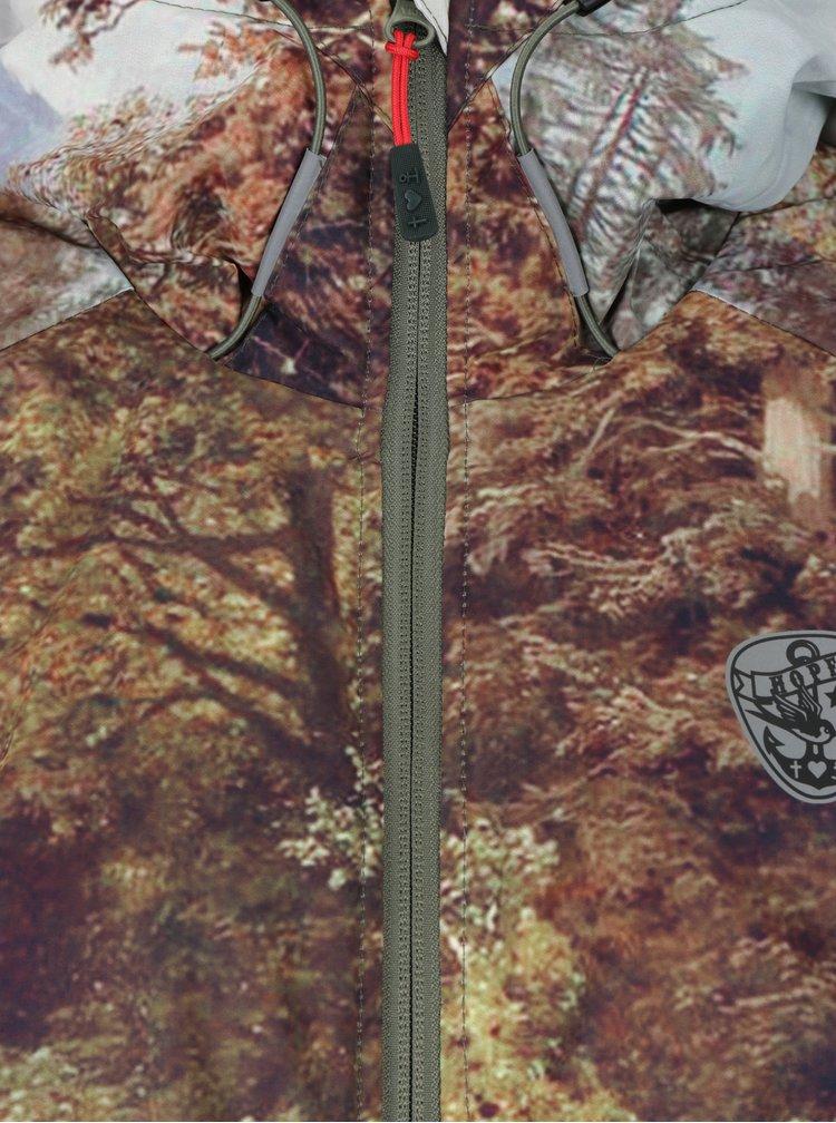 Geaca parka verde&maro impermeabila cu print Scufita Rosie - Blutsgeschwister