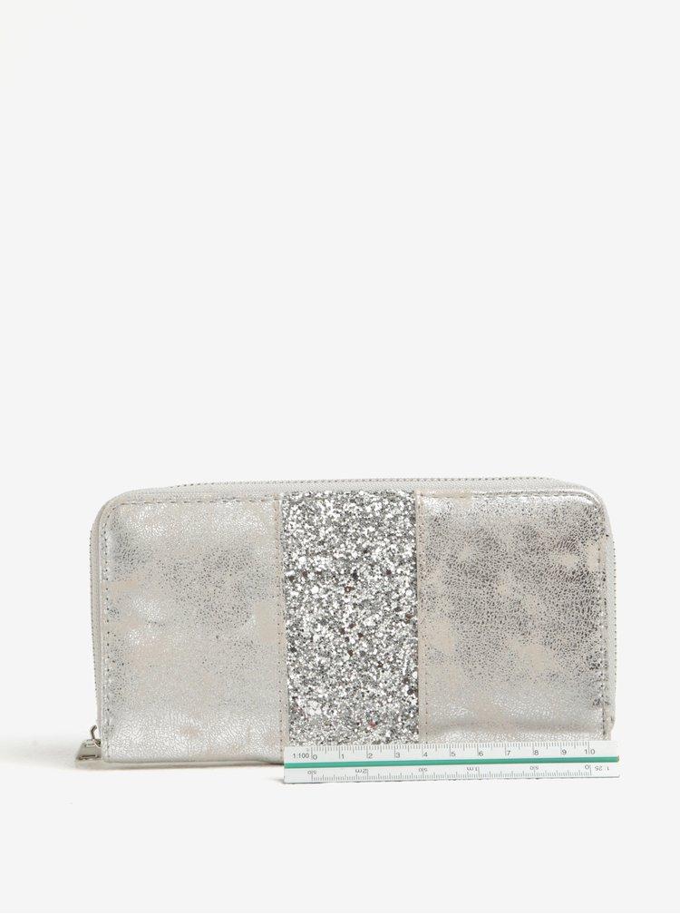 Portofel argintiu cu sclipici Haily´s Lina