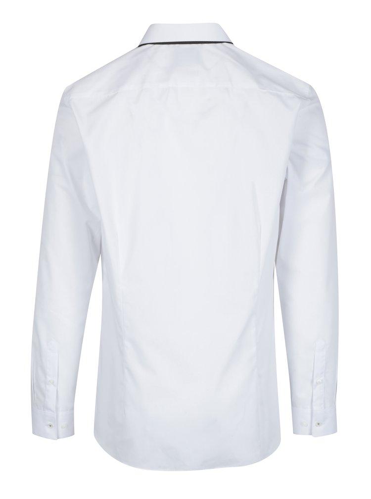 Bílá formální skinny košile Burton Menswear London