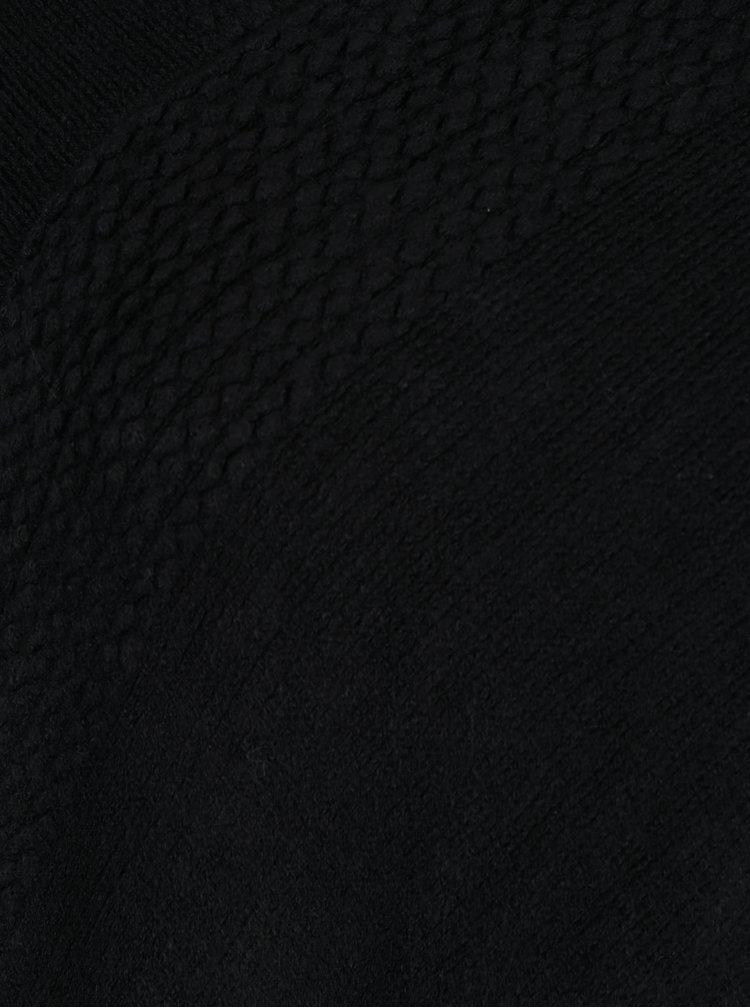 Poncho negru cu franjuri  Haily's Sophie