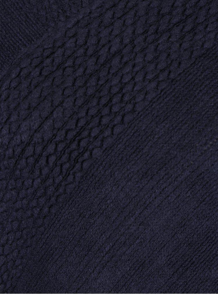 Poncho albastru inchis cu franjuri Haily´s Sophie