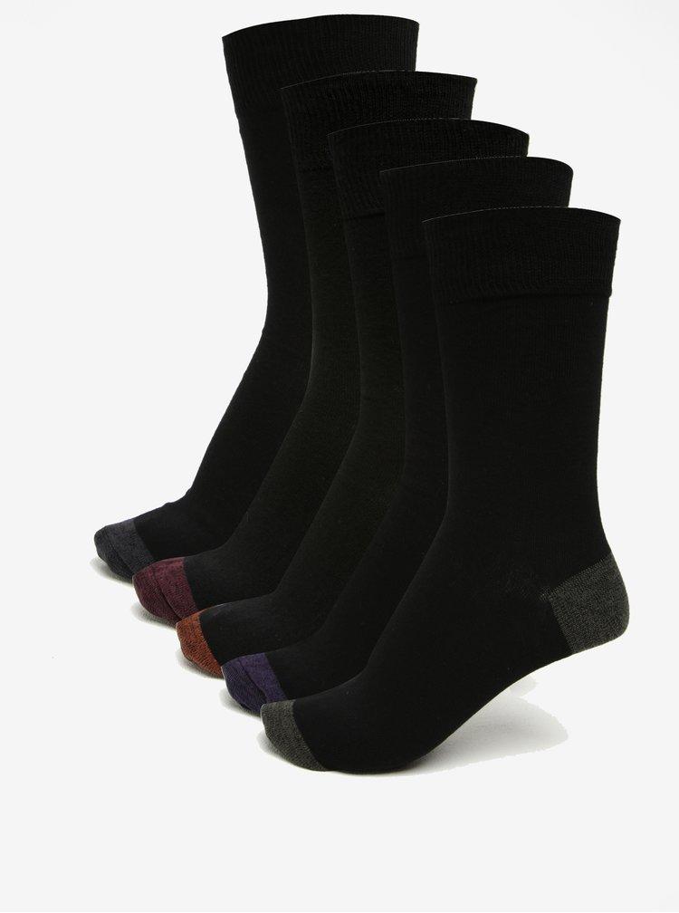 Set de 5 perechi de sosete negre - Burton Menswear London