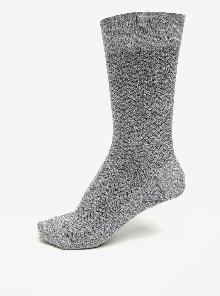 Set de 4 perechi de sosete gri & negru - Burton Menswear London