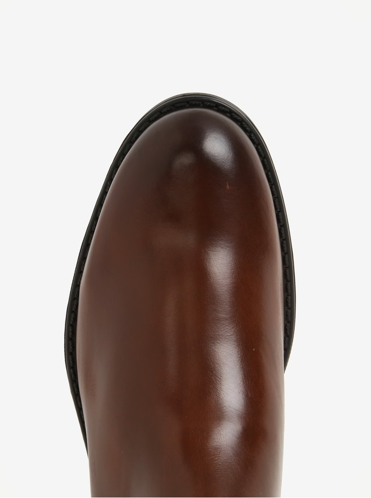 Hnědé pánské kožené chelsea boty GANT Oscar