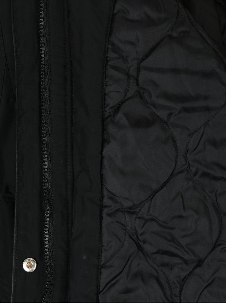 Černá parka s kapucí Dorothy Perkins