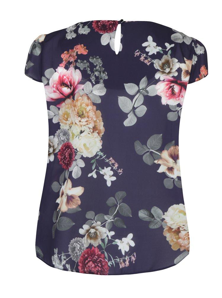 Bluza bleumarin cu print floral Billie & Blossom