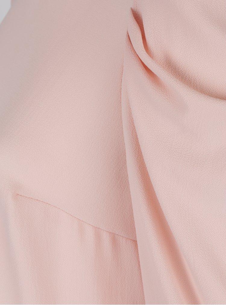Světle růžová halenka s nařasenými rukávy Dorothy Perkins Curve