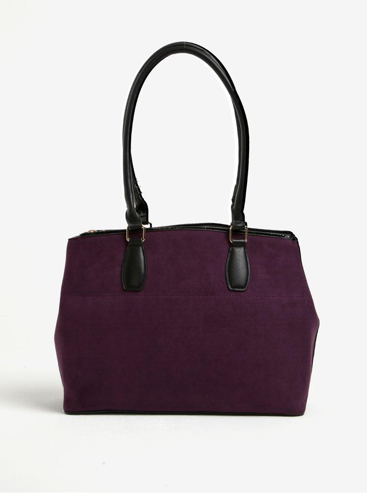 Geanta violet cu aspect de piele intoarsa Dorothy Perkins
