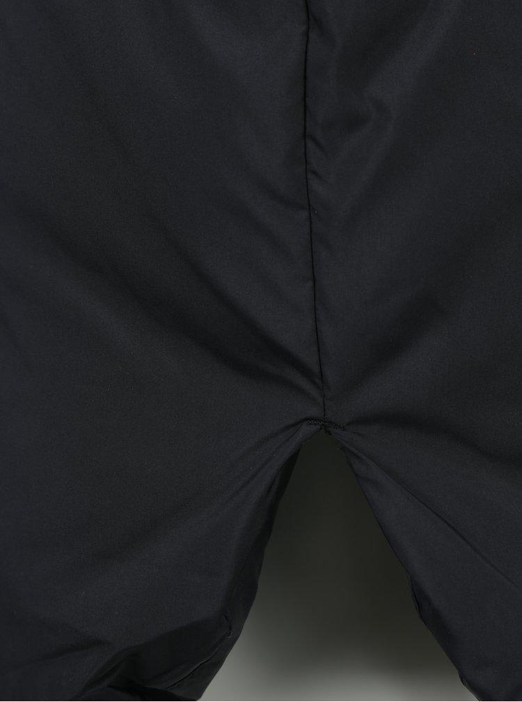 Černý péřový kabát s kapucí VERO MODA Happy
